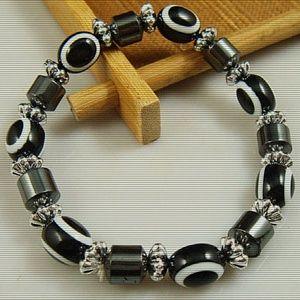 Jewelry - Charm Beads & Haematite Stretch Bracelet